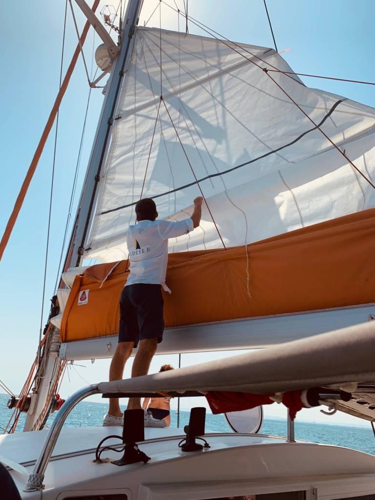virée en catamaran